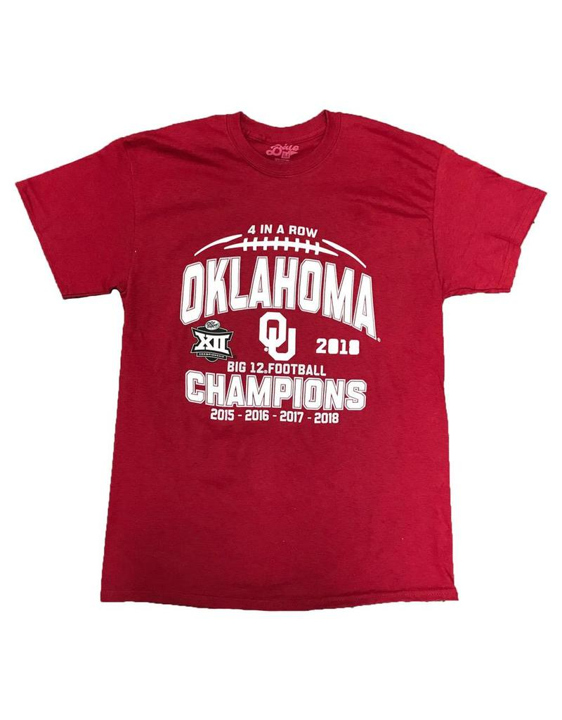 Blue 84 Four in a Row Big 12 Champion Tee