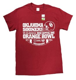 New World Graphics 2018 OU Crimson Retro Orange Bowl Tee