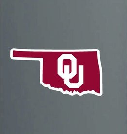 "Color Shock OU Inside Shape Of State Auto Decal 2.9""x6"""