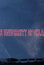 "Color Shock OU The University Of Oklahoma Crimson/White Auto Decal 1.5""x15.5"""