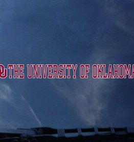 "Color Shock OU The University Of Oklahoma Crimson/White Auto Decal 1.5""x15.5"""