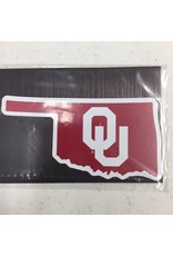 "Color Shock State of Oklahoma w/ OU Fridge Magnet 3""x2"""
