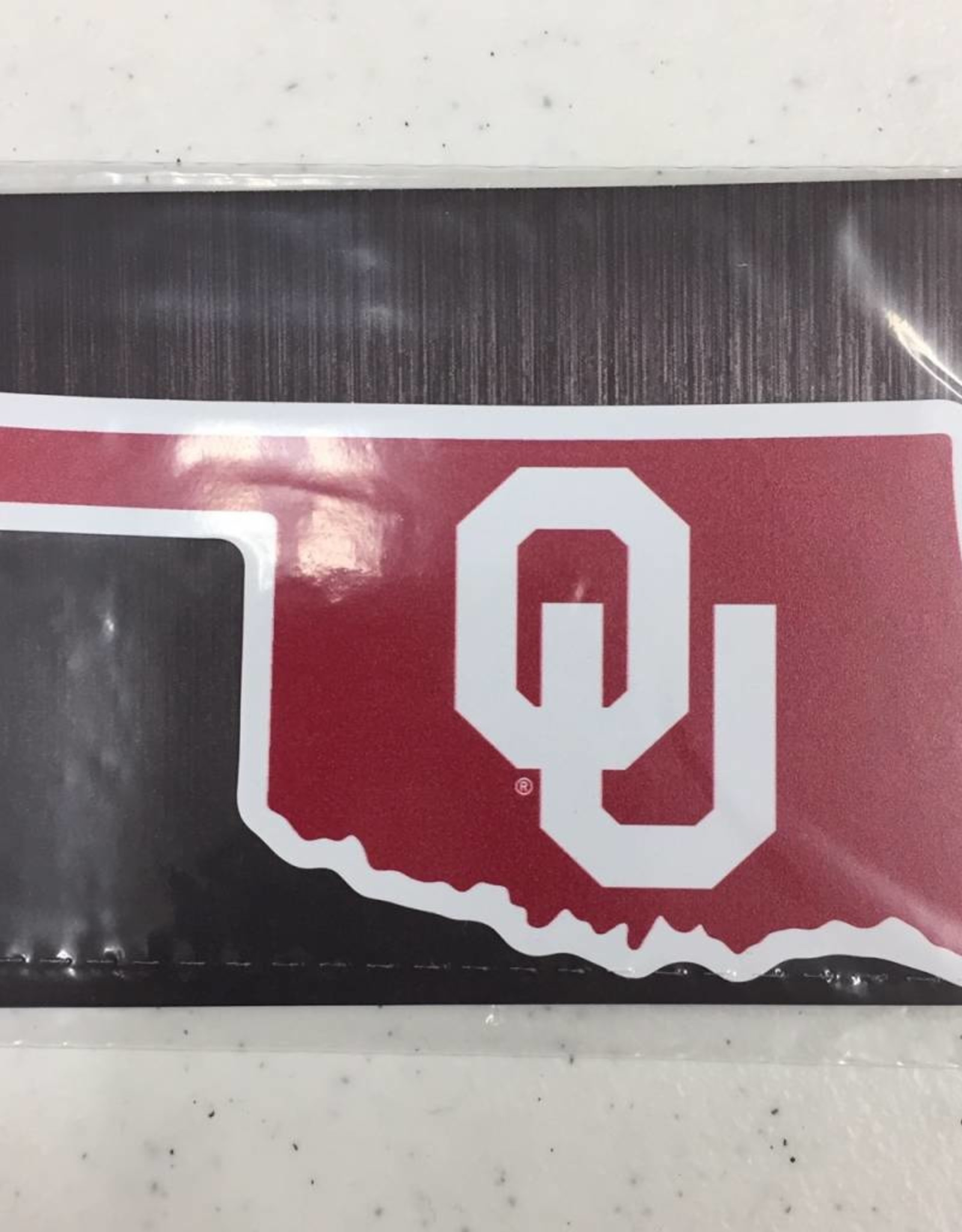 "Color Shock State of Oklahoma w/ OU Fridge Magnet 3""x2"""