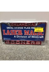 Laser Magic Oklahoma/Sooners Mirrored Silver/Crimson License Frame