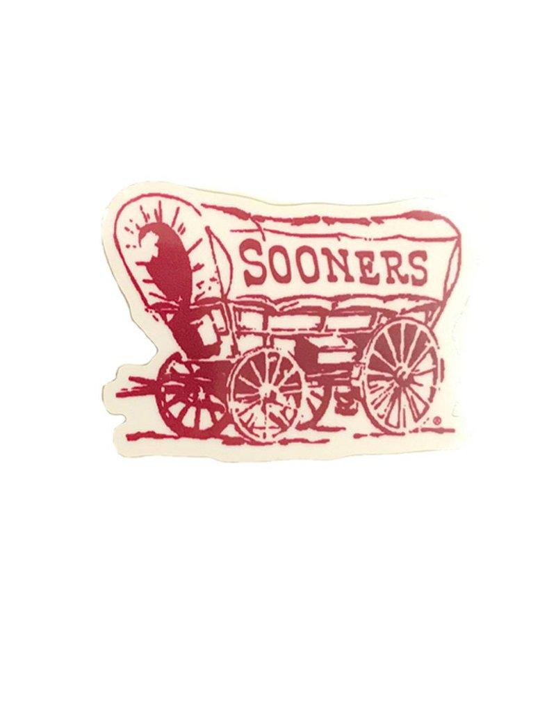 """SDS Design 2"""" Sooner Schooner Vinyl Decal"""