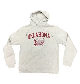Top of the World TOW Light Heather Gray Oklahoma Schooner Pullover Hoody