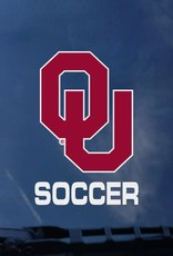"Color Shock OU Soccer Auto Decal 3.8""x3.5"""