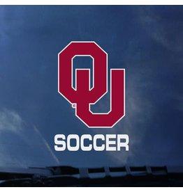 "Color Shock OU Soccer Auto Decal 3.8""x3.5"""