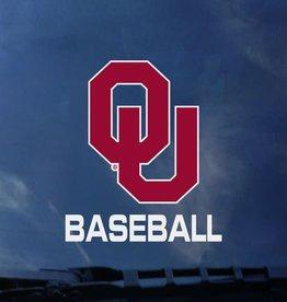 "Color Shock OU Baseball Auto Decal 3.5""x3.5"""