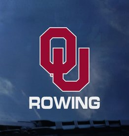 "Color Shock OU Rowing Auto Decal 3.6""X5"""
