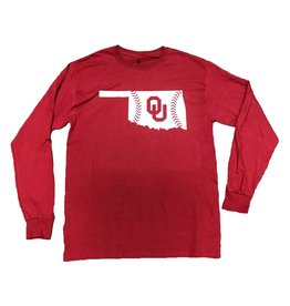 TOW TOW OU State Baseball Laces L/S Tee