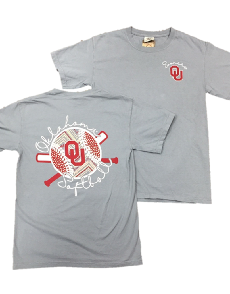 purchase cheap 086f2 4d6d6 Comfort Colors OU Sooners Softball Tee