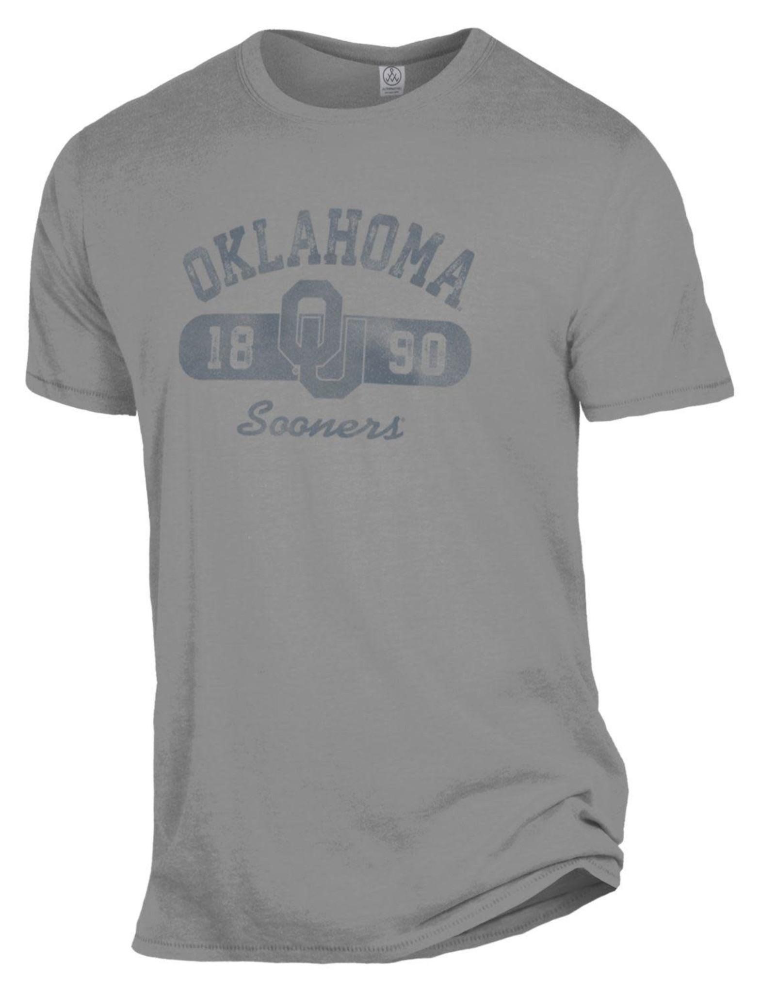 Alternative Apparel Men's Alternative Apparel Smoke Gray Oklahoma Keeper Tee