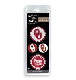 Team Effort Oklahoma Ball Marker Set