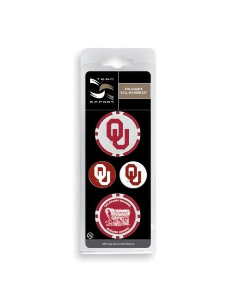 Team Effort Oklahoma Ball Marker Set