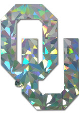 Elektroplate University of Oklahoma Silver Reflective Decal