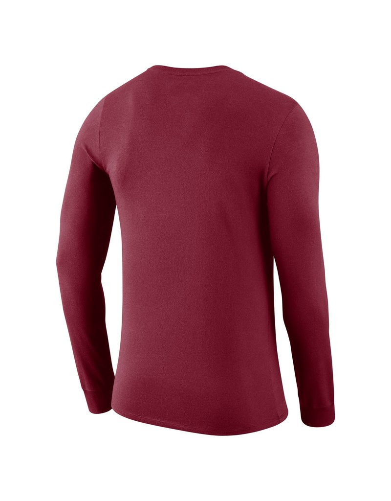 Nike Men's Nike Dri-Fit Cotton Long Sleeve Wordmark Tee