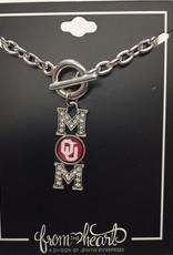 FTH FTH OU Sooners Crystal MOM Toggle Bracelet