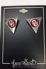 FTH FTH OU Hallow Triangle Earrings