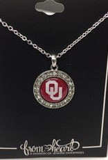 FTH FTH OU Crystal Round Necklace