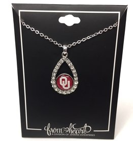 FTH FTH OU Crystal Tear Drop Necklace