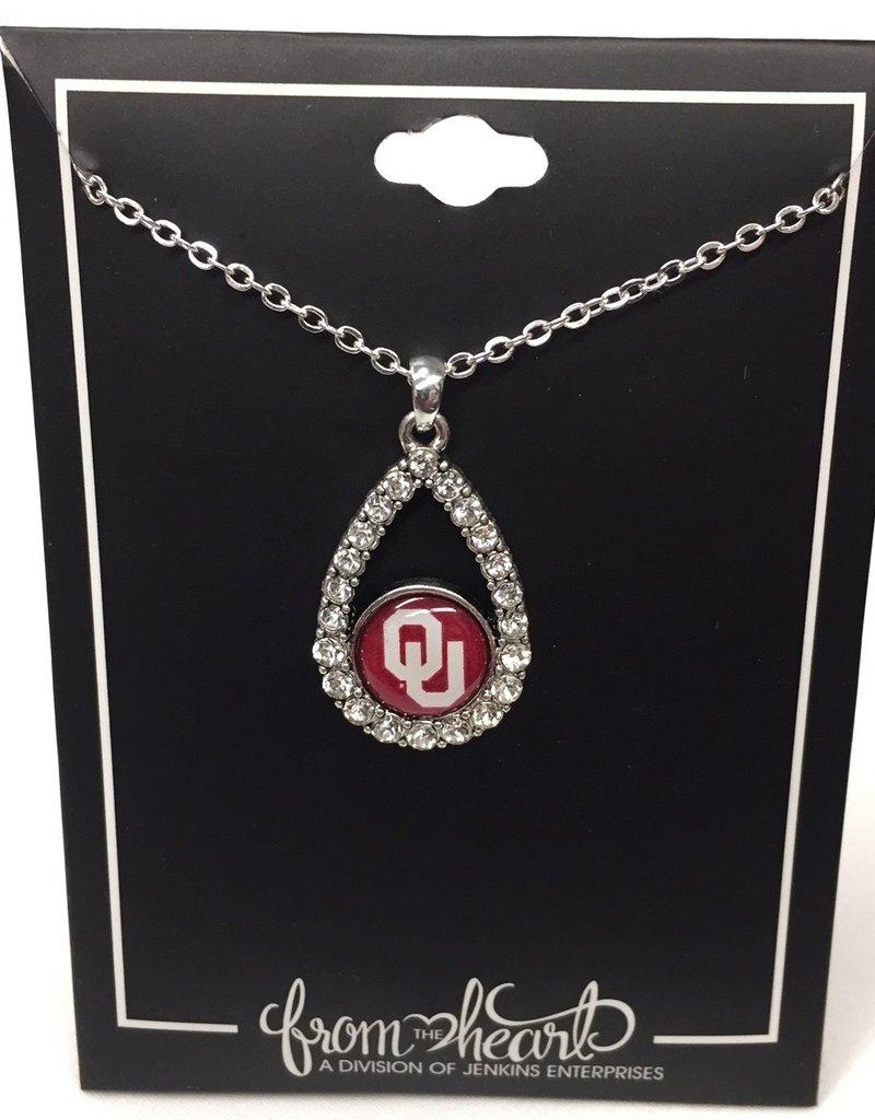 FTH FTH OU Crystal Tear Drop Necklace