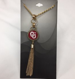 FTH FTH OU Gold Tassle Necklace