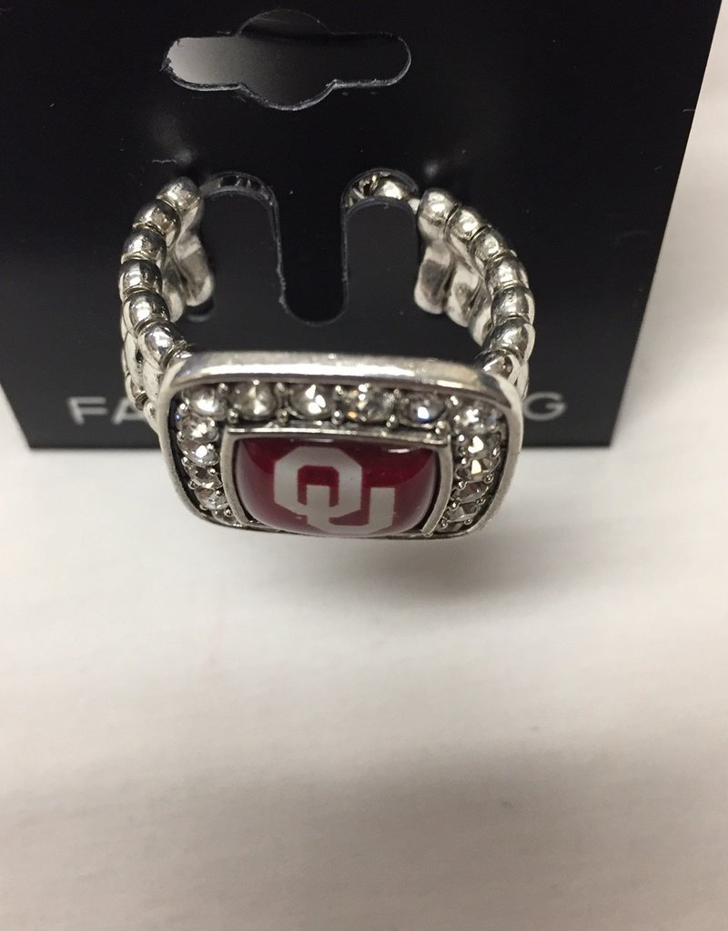 FTH FTH OU Crystal Square Stretch Ring