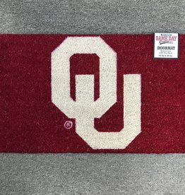"Game Day Outfitters Crimson Coir 18""x30"" OU Door Mat"