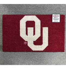 "Game Day Outfitters Crimson Natural Coir 18""x30"" OU Door Mat"