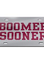 WinCraft Boomer Sooner/Crimson/Silver Mirrored License Plate