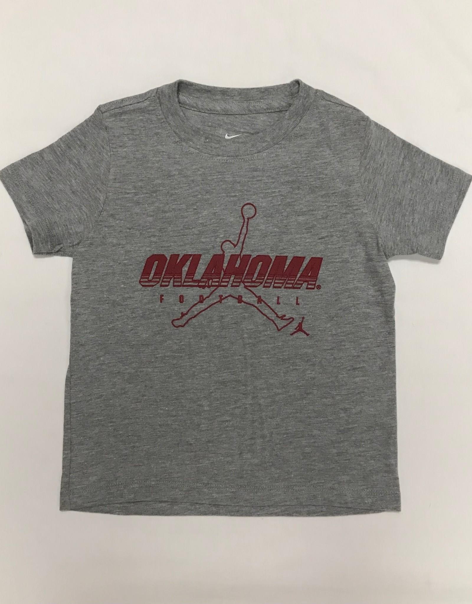 Jordan Jordan Brand Oklahoma Football Tee Dk Heather