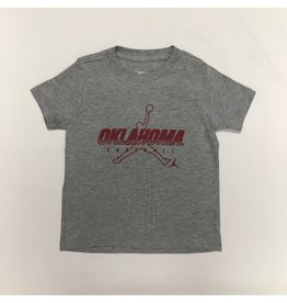 Jordan Jordan Brand Oklahoma Football Tee Dk Heather