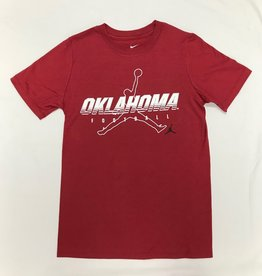 Jordan Jordan Brand Youth Oklahoma Football Tee Crimson