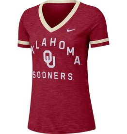 Nike Women's Nike Oklahoma Slub Fan V-Neck