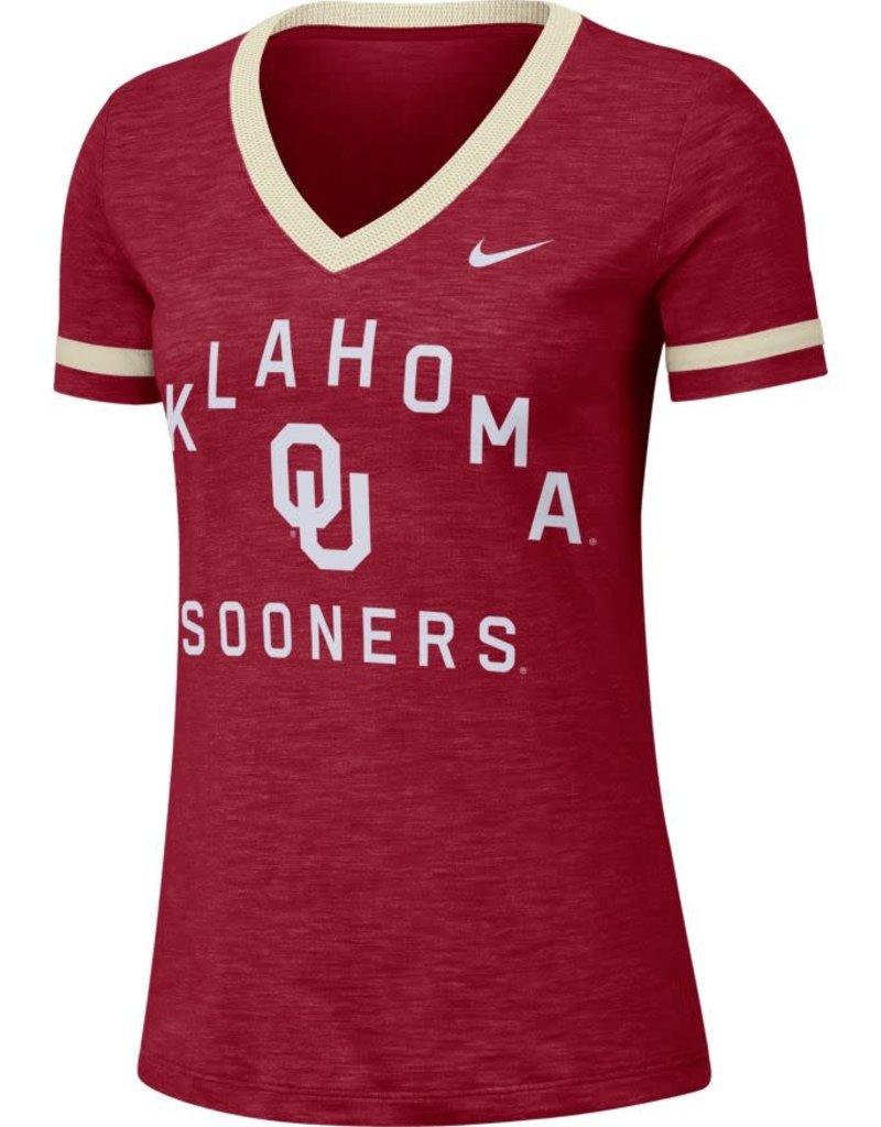 Nike Women's Nike Oklahoma Slub Fan V-Neck
