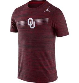 Jordan Men's Jordan Brand Oklahoma Crimson Dri-Fit Legend Velocity Tee