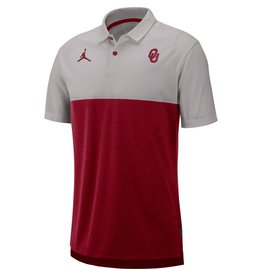 Jordan Men's Jordan Brand 2019 OU Early Season Breathe Coaches Crimson/Pewter Polo
