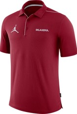 Jordan Men's Jordan Oklahoma Team Issue Crimson Polo