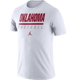 494af74b Jordan Men's Jordan White Oklahoma Football DriFit Cotton Icon Word Tee