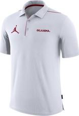 Nike Men's Jordan Oklahoma Team Issue White Polo