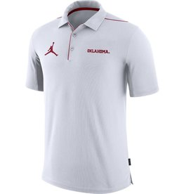 faf1b8a9 Men's Crimson DriFit Cotton OU Football Icon Tee. $30.00. Nike Men's Jordan  Oklahoma Team Issue White Polo