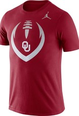 Jordan Men's Jordan Crimson DriFit Cotton OU Football Icon Tee
