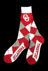 FBF FBF OU Argyle Sock (One Size Fits Most)