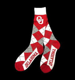 FBF OU Argyle Sock (One Size Fits Most)