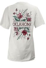 "Pressbox Women's Oklahoma Floral ""Tasha"" V-Neck Tee"