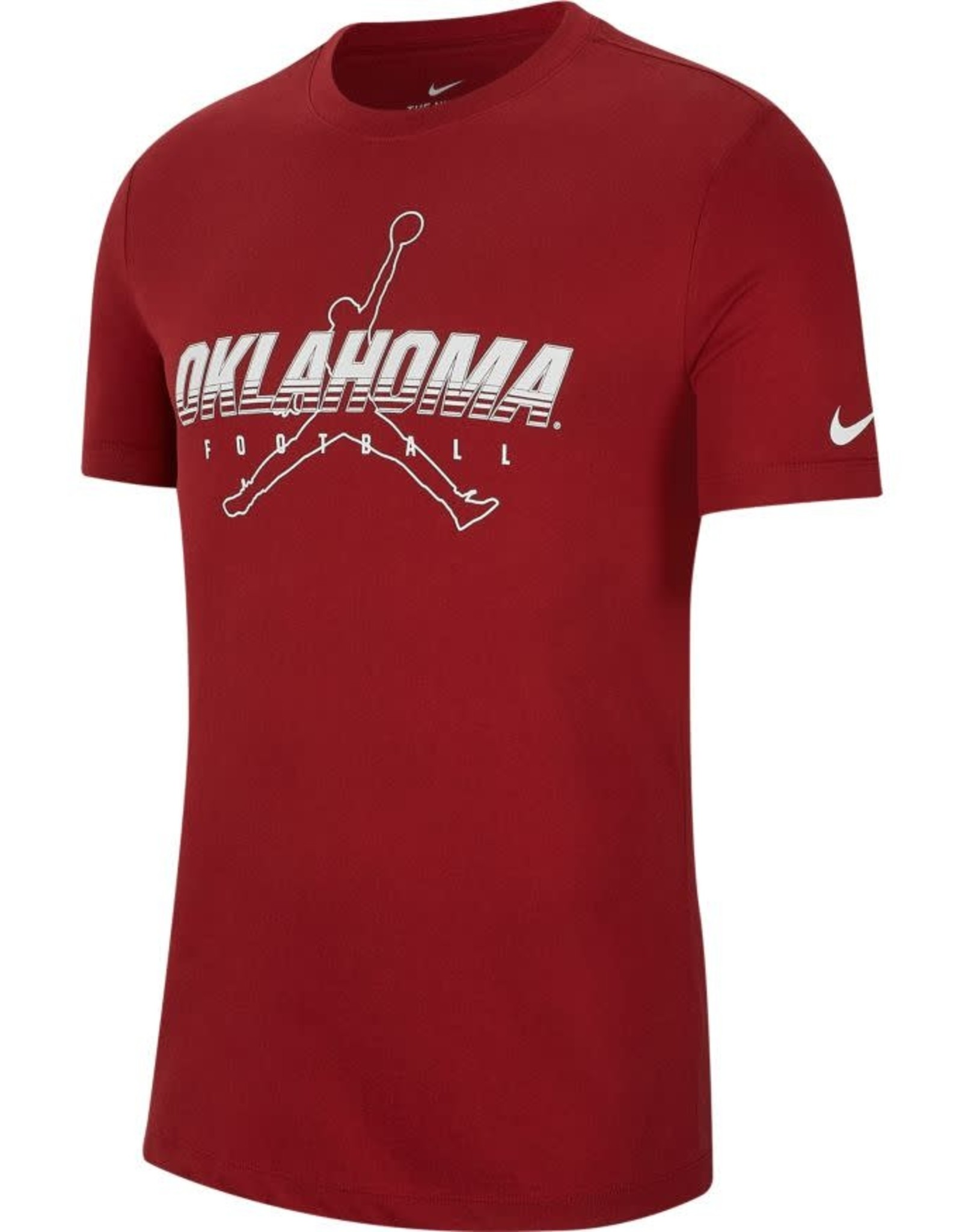 Jordan Men's Jordan Oklahoma Football Crimson DriFit Cotton Facility Tee