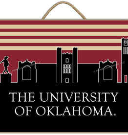 "Prints Charming Retro OU Skyline Wall Plaque (13""x16"")"