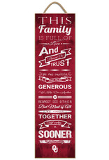"Prints Charming ""This Family"" OU Wall Plaque (8""x24"")"