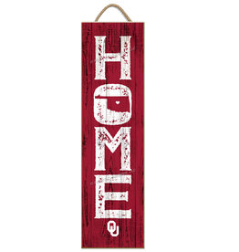 "Prints Charming Home OU Wall Plaque (8""x24"")"